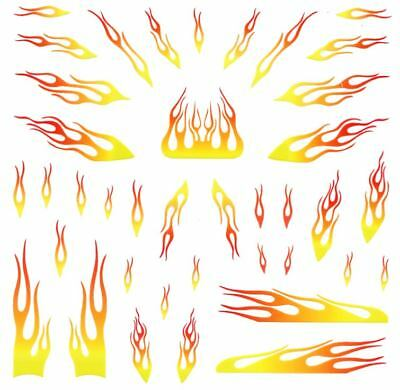 Pinewood Derby Car Flames Decal