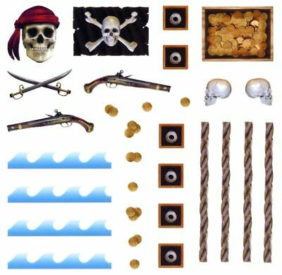 Pinewood Derby Car Pirate Decal