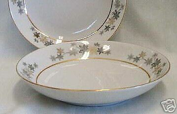 9 FRUIT BOWLS Empress China GOLDEN SILHOUETTE bargain