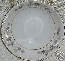 10 CEREAL BOWLS Empress China GOLDEN SILHOUETTE bargain