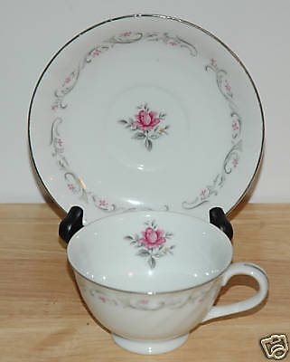 FINE CHINA OF JAPAN CUP & SAUCER ROYAL SWIRL PATTERN