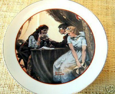 NORMAN ROCKWELL YOUNG LOVE COLLECTORS PLATE AND CUP SET