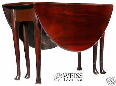 SWC-Mahogany Queen Anne Oval Dropleaf Table c1760