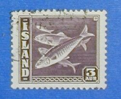 1939 ICELAND 3A DEFIN STAMP SCOTT#218a MICHEL#209B USED