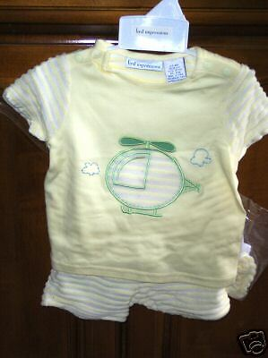 First Impressions 2 pc shorts set outfit  6/9 mo NWT