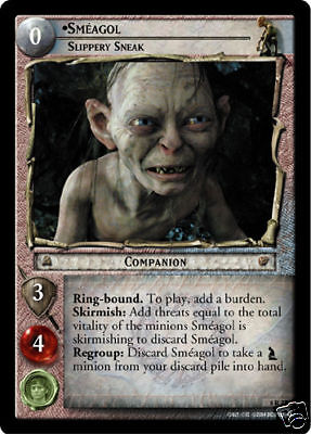 LOTR TCG Follow Smeagol 5U23 Battle of Helm's Deep Lord of the Rings MINT FOIL Collectible Card Games