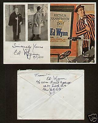 Ed Wynn Vintage signed autograph Comedian & Actor FC