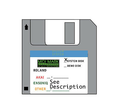 Operating System Startup Disk - Akai S-2000 s2000 boot