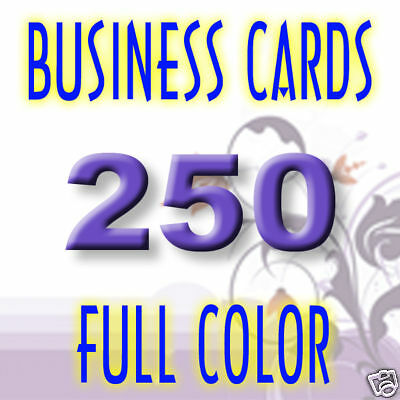 250 Glossy Business Cards Printing + Free Card Design!!