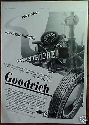 Orig 1932 French Advertisement GOODRICH Tires Tyres