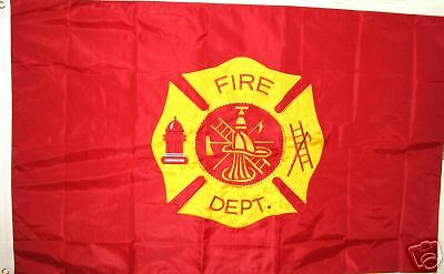 Fire Department 3' X 5' Flag Highest Quality Embroidered Fire Dept Flag