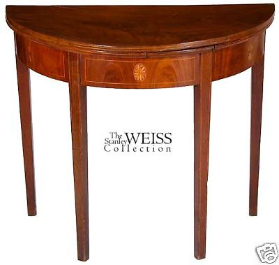 SWC-Hepplewhite Card Table w/Hidden Drawer, Salem c1800