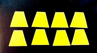 FIRE HELMET TRAPEZOIDS - Highly Reflective YELLOW Scotchlite - Set of EIGHT