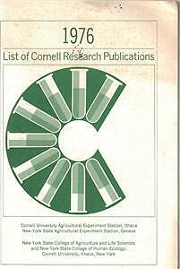 1976 List of Cornell Research Publications -Agriculture