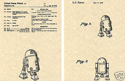 US PATENT for R2D2 Art Print George Lucas Star Wars Droid Robot Ready To Frame!!