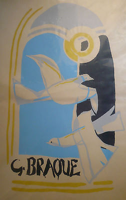 GEORGES BRAQUE, LISTED Serigraph In Colors, French modernist modernism PRINT