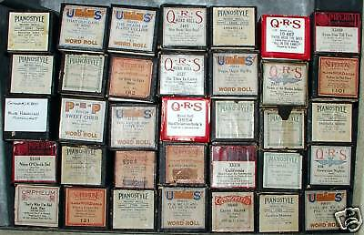 Vintage Player Piano Rolls Per Unit(Pick What You Want)