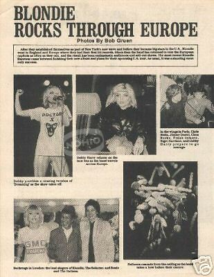 vintage BLONDIE MAGAZINE PHOTOS Debbie Harry 80's 1980