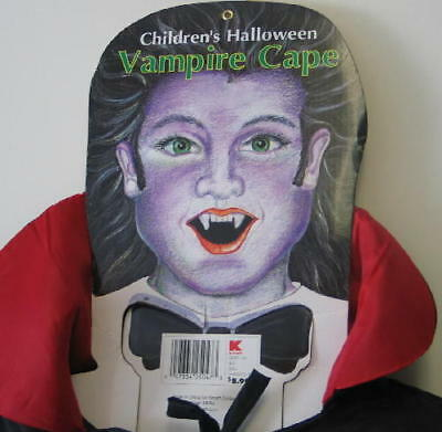 Child's Vampire Cape Halloween Costume