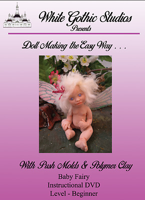 DVD - Make Baby Fairies w/push molds & Polymer Clay 90m