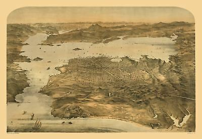 24x36 Vintage Reproduction Historic Map Coldwater Michigan 1868 Branch