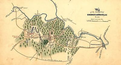 24x36 Vintage Reproduction Civil War Map Knoxville Tennessee 1863