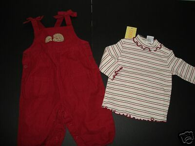 NWT Gymboree Outdoor Whimsy Stripe Top Overalls 3-6