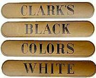 Clarks Spool Cabinet Decal 4 Piece Set  H1020 • £15.13