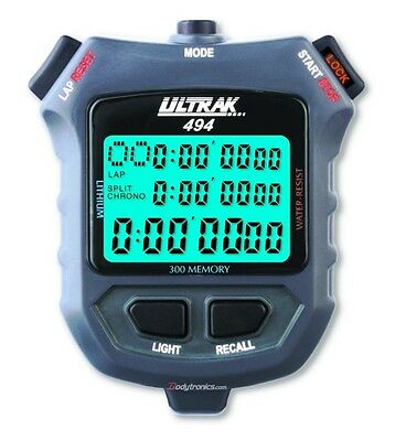 ULTRAK 494 300-Lap Stopwatch, Backlit Display NEW MODEL