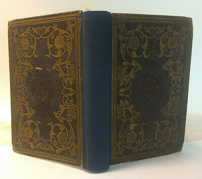 Antique Book 1851 KEEPSAKE of FRIENDSHIP 4 Oliver Pelton Engravings CHRISTMAS hb