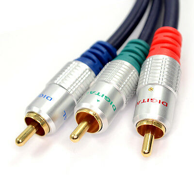 1m COMPONENT Video HQ SHEILDED OFC Cable YpbPr YUV Lead