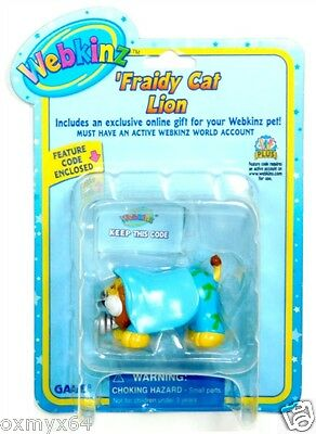 Webkinz Fraidy Cat Lion Figurine with Code FREE SHIPPING!