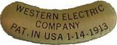 Telephone Brass Western Electric  Tag   B9989