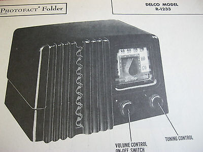 Delco R-1233 Radio Photofact