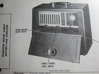 Truetone D3840 Portable Radio Photofact