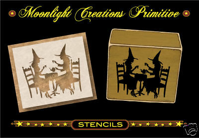 Halloween Wicca Stencil ~  Witch Tea Party