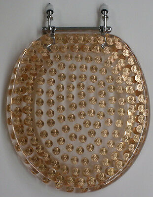 Elongated Pennies Penny Coins Resin Toilet Seat