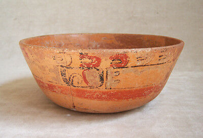 Superb Pre-Columbian MAYAN POLYCHROME BOWL, c. 600-900 AD