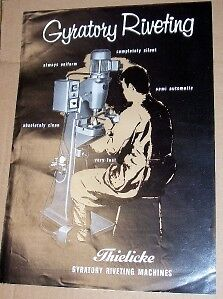 Vtg Thielicke&Co Catalog~Gyratory Riveting Machine~Tool