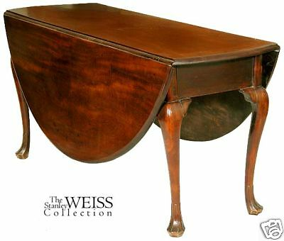 SWC-Large Mahogany Queen Anne Oval Breakfast Table 1760