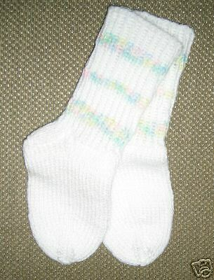 NEW Soft Cuddly Hand Knit Baby Booties