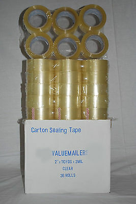 6 Rolls Package Clear 2ml Box Carton Packing Packaging Sealing Tape 2x110