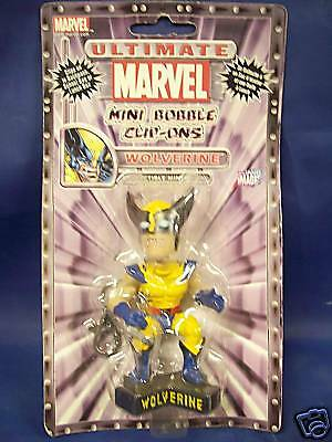 Qty of 2 ~ ~ Ultimate Marvel Mini Bobble Clip-ons Wolverine