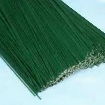 "FLORISTRY WIRES 500g GREEN COATED WIRING 12"" LONG 56 guage medium flower stem"
