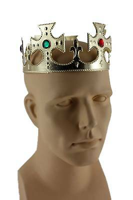 Maltese Crown King Gold Hat England Royalty Costume Plastic Crown CLOSEOUT
