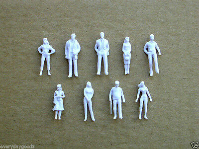 1000pcs Model Trains 1:75 Scale WHITE Figures OO