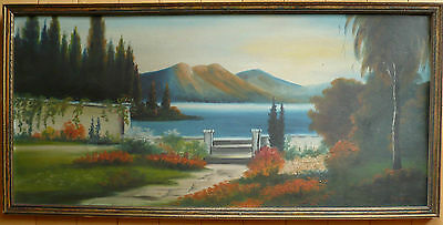 H.R. Wood, Colorism Old Art Landscape Oil LISTED impressionism Antique Oil