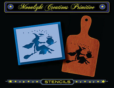 Halloween Wicca Stencil ~ Witches Hot Pot Delivery