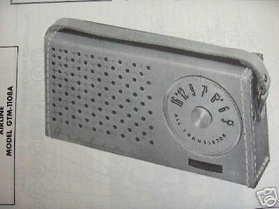 AIRLINE GTM-1108A TRANSISTOR RADIO PHOTOFACT