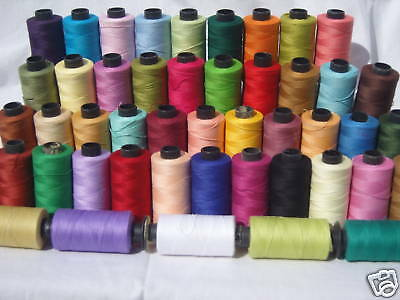 50 SEWING 100% PURE COTTON  THREAD 500 Yards each, top quality
